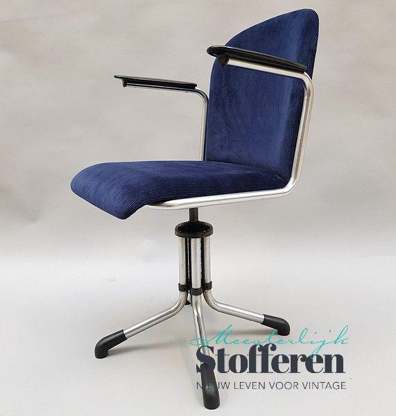Artifort Bureaustoel Vintage.Verkocht Gispen Model 356 Bureaustoel Vintage Shop Meesterlijk